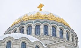 La cathédrale navale de Saint-Nicolas dans Kronstadt Photos libres de droits