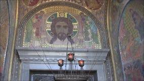 La cathédrale navale de Saint-Nicolas dans Kronstadt de thr à l'intérieur clips vidéos