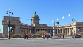 La cathédrale orthodoxe de Kazan à St Petersburg au printemps Photographie stock libre de droits