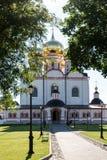 La cathédrale principale La cathédrale ibérienne autrefois Uspensky est un six-pilier, à tête de cinq, structure de trois-Nave, é image stock