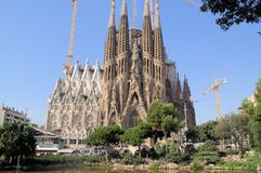 Cathédrale Barcelone Espagne de SagradaFamilia images stock