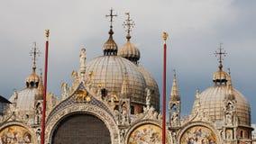 La cathédrale Venise du repère de rue de Basilica di San Marco images libres de droits
