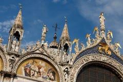 La cathédrale Venise du repère de rue de Basilica di San Marco Image stock