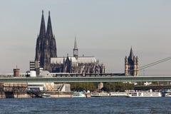 La cathédrale de Cologne, Allemagne Images libres de droits