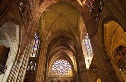 La cathédrale de Leon Photos stock
