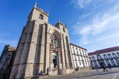 La cathédrale ou l'expert en logiciel Catedral de Porto font Porto Image stock