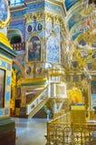 La cattedra nella cattedrale santa di Dormition Fotografia Stock