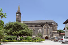 La cattedrale anglicana della chiesa di Cristo in città di pietra, Zanzibar, Tanzania Fotografia Stock