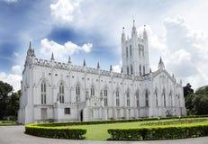 La cattedrale Calcutta, una vista di St Paul dal Nord Immagine Stock