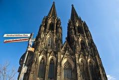 La cattedrale a Colonia. Immagine Stock Libera da Diritti