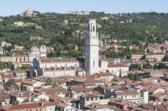 La cattedrale da sopra Verona Veneto Italia Europa Immagini Stock