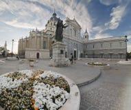 La cattedrale del Almudena a Madrid Fotografie Stock