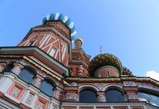 La cattedrale del basilico della st a Mosca sul quadrato rosso fotografia stock libera da diritti