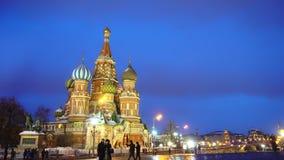 La cattedrale del basilico di stupore del san in quadrato rosso, Mosca, simbolo del paese stock footage