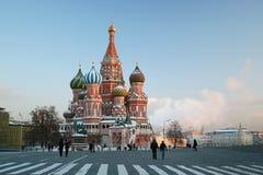 La cattedrale del basilico sul quadrato rosso a Mosca Fotografia Stock Libera da Diritti