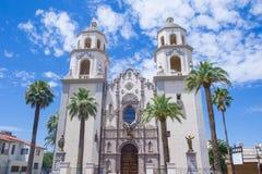 La cattedrale del san Augustin in Tucson Fotografia Stock Libera da Diritti