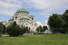 La cattedrale del san Sava a Belgrado, Serbia fotografia stock