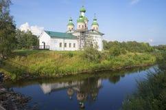 La cattedrale dell'icona di Smolensk della madre di Dio Olonets, Carelia Fotografia Stock Libera da Diritti