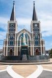 La cattedrale dell'immacolata concezione a Chantaburi in tailandese Immagini Stock Libere da Diritti
