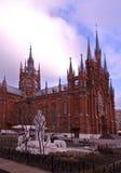 La cattedrale dell'immacolata concezione della Vergine Santa Mary Moscow Immagine Stock Libera da Diritti