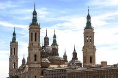 La cattedrale della basilica della nostra signora della colonna immagine stock libera da diritti