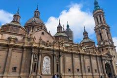 La cattedrale della basilica della nostra signora della colonna immagine stock