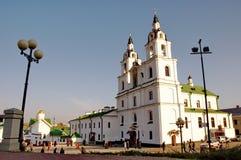 La cattedrale della città di Minsk Fotografia Stock