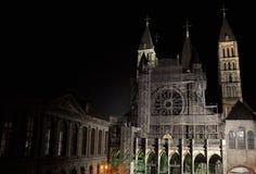 La cattedrale della nostra signora in Tournai Fotografie Stock