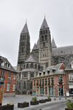 La cattedrale della nostra signora in Tournai Fotografia Stock Libera da Diritti