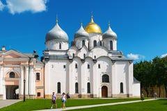 La cattedrale della st Sophia in Veliky Novgorod fotografia stock libera da diritti