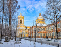 La cattedrale della trinità del lavra di Alexander Nevsky Fotografia Stock