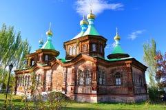 La cattedrale della trinità santa in Karakol immagine stock libera da diritti