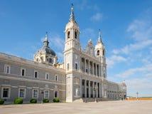 La cattedrale di Almudena a Madrid Fotografia Stock Libera da Diritti