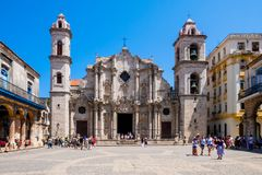 La cattedrale di Avana fotografia stock libera da diritti