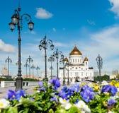 La cattedrale di Christ il salvatore a Mosca, Russia Immagini Stock Libere da Diritti