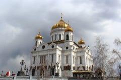 La cattedrale di Cristo il salvatore a Mosca Immagine Stock