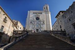 La cattedrale di Girona Immagine Stock Libera da Diritti