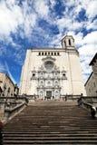 La cattedrale di Girona (Gerona), Spagna Fotografie Stock