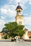 La cattedrale di incoronazione di Alba Iulia Immagini Stock