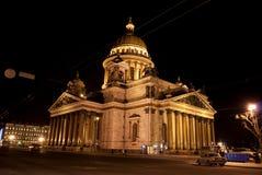 La cattedrale di Isaac del san o Isaakievskiy Sobor in San Pietroburgo, Russia Fotografia Stock