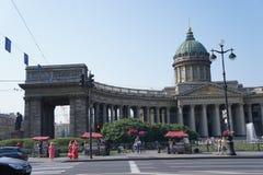 La cattedrale di Kazan a St Petersburg Fotografia Stock Libera da Diritti