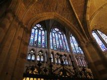 La cattedrale di Leon Fotografie Stock