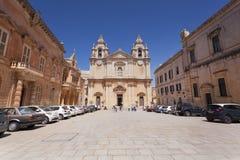La cattedrale di Mdina Fotografia Stock