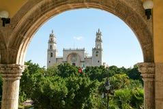 La cattedrale di Merida su Yucatan Fotografie Stock Libere da Diritti