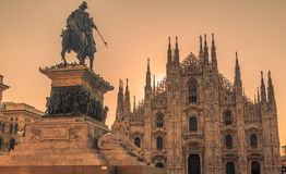 La cattedrale di Milano Fotografia Stock Libera da Diritti