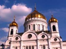 La cattedrale di Mosca di Cristo il salvatore copre con una cupola aprile 2011 Fotografia Stock