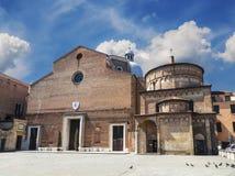La cattedrale di Padova, o la cattedrale del presupposto di vergine Maria con un battistero ha dedicato a St John il battista fotografia stock libera da diritti