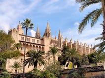 La cattedrale di Palma de Mallorca Fotografie Stock Libere da Diritti
