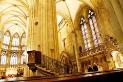 La cattedrale di Regensburg Fotografia Stock