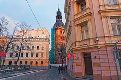 La cattedrale di Riga è la più grande chiesa medievale nel Baltico immediatamente Fotografia Stock Libera da Diritti